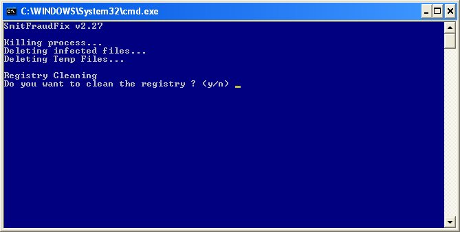 SmitfraudFix : registry cleaning