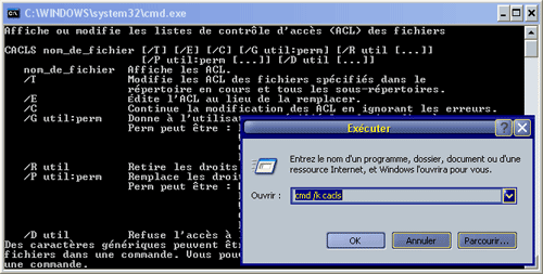 CMD avec l'option /k