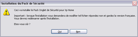 Install the security tab for XP Home