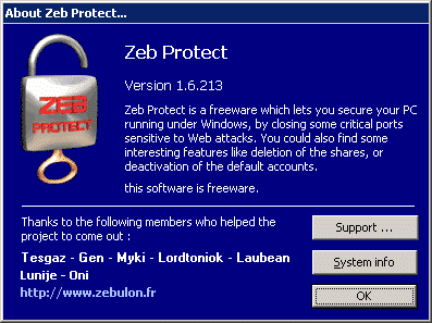 Presentation of Zeb Protect