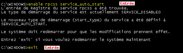 enable rpcss service_auto_start