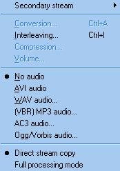 Encodage en divx : audio