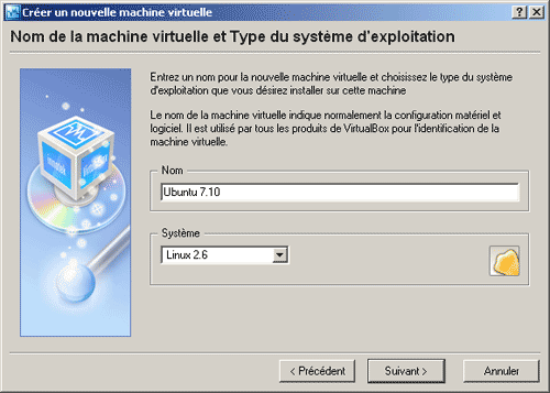 Nom de la machine virtuelle