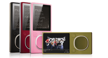 Les coloris du Zune Flash