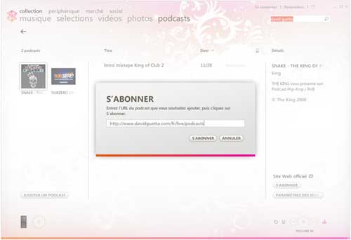 Abonnement aux podcasts