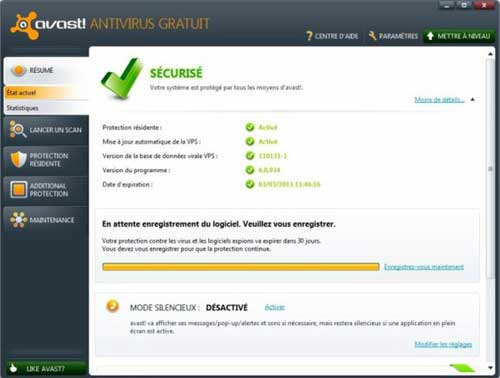 Interface avast 6.0