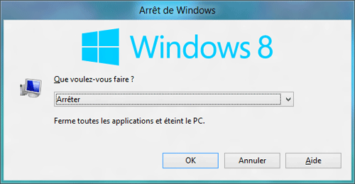 Fen�tre Arr�t de Windows