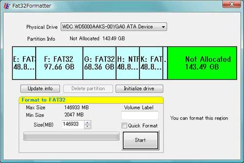 formater fat32 - Comment formater un disque de plus de 32 Go en FAT32
