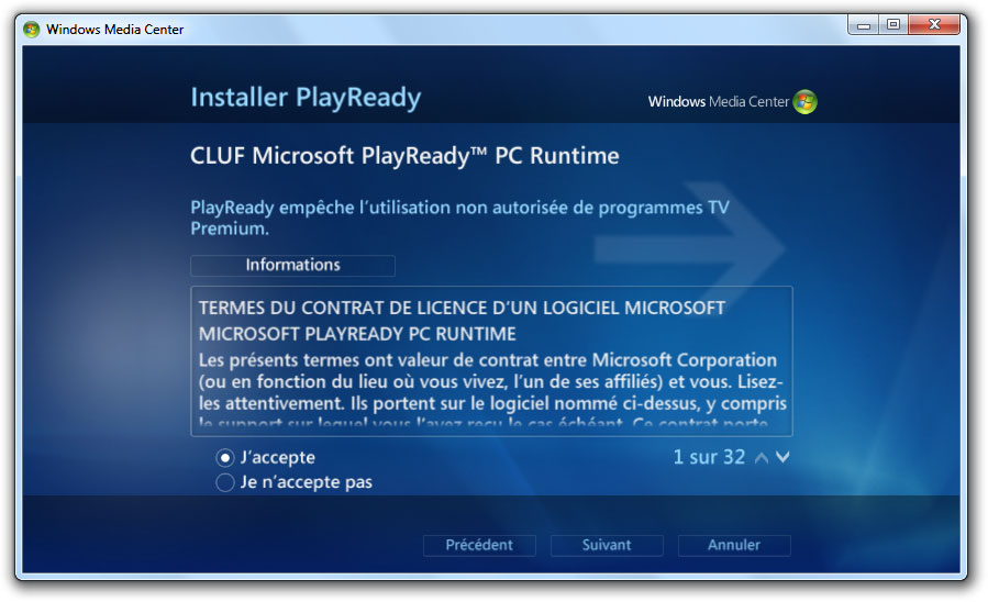 CLUF Microsoft PlayReady PC Runtime