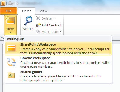 La copie d'un site avec SharePoint Workspace