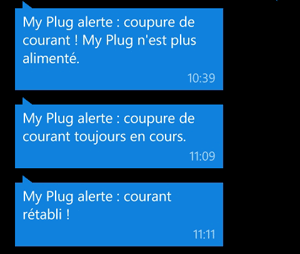 Alerte coupure courant