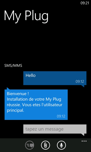 SMS installation My Plug
