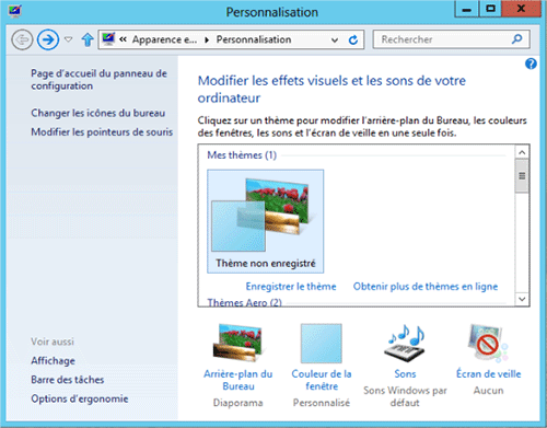 Apprenez personnaliser l 39 apparence de windows 8 - Arriere plan de bureau windows gratuit ...