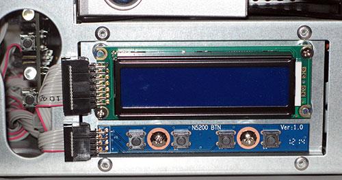 Afficheur LCD du Thecus N5550