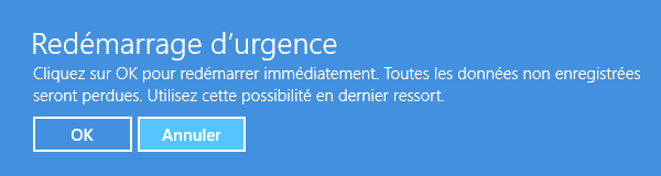 Red�marrage d'urgence Windows