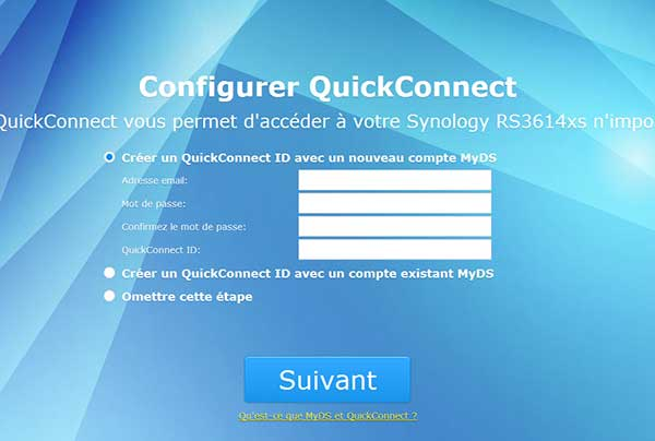 Configuration QuickConnect