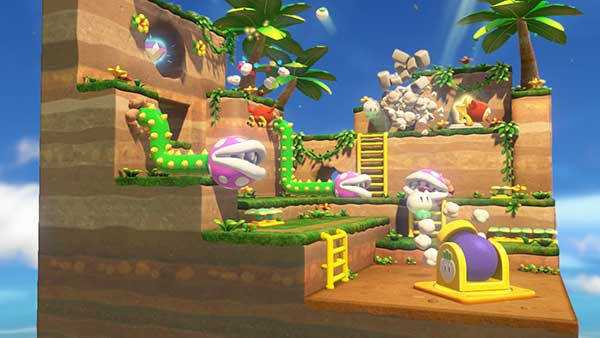 Un niveau en 3D de Captain Toad Treasure Trackers
