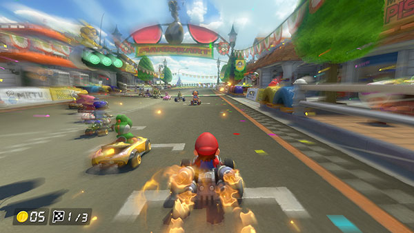 Gameplay de Mario kart 8 Deluxe sur Switch