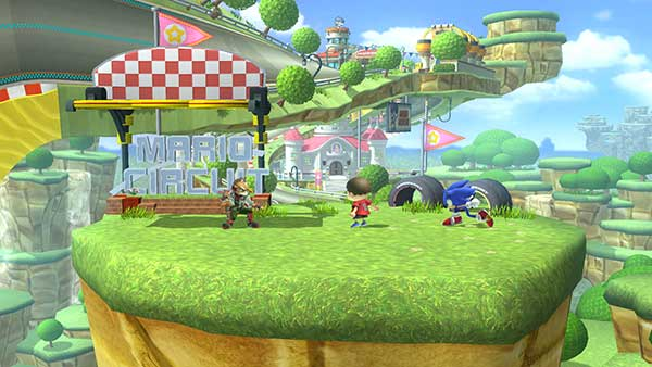Niveau Sonic dans Super Smash Bros. for Wii U
