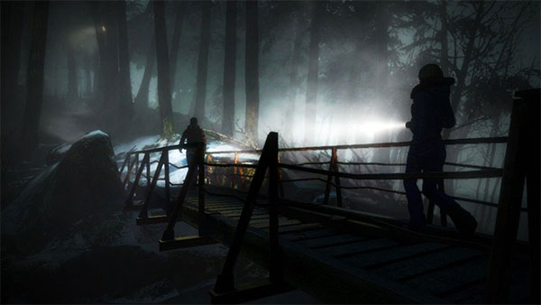 Un pont lugubre dans Until Dawn