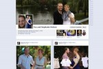Un exemple de page consacr�e � un couple sur Facebook.