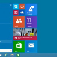 menu d�marrer Windows 10