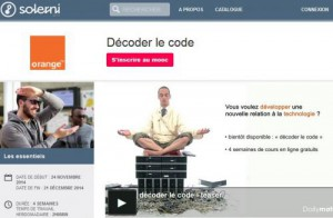 mooc orange ouvre son cours de programmation. Black Bedroom Furniture Sets. Home Design Ideas