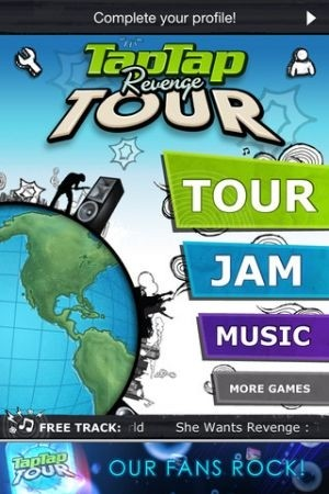 Application iPhone 'Tap Tap Revenge Tour'