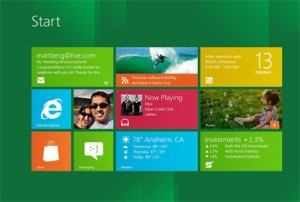 Commandes de Windows 8