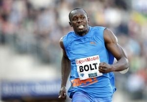 La star du sprint Usain Bolt