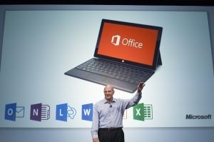 Steve Ballmer a pr�sent� le nouvel Office.