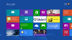 Ecran d�marrer de Windows 8