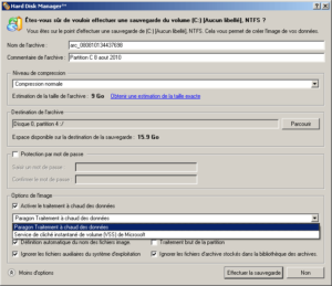 Sauvegarde Hard Disk Manager