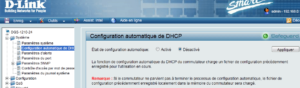 Configuration automatique DHCP