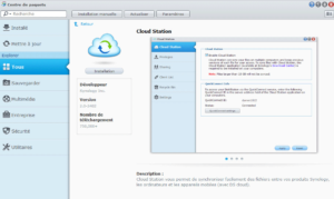 Installation du module CloudStation de Synology