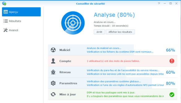 Test du NAS Synology DS1815+
