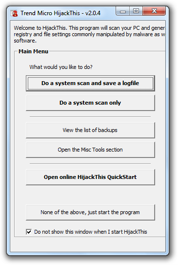 """HijackThis"