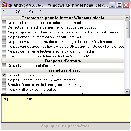 """xp-AntiSpy"""