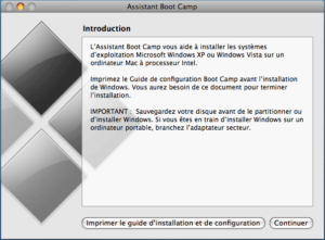 Assistant d'installation de Boot Camp