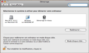 Démarrage de Windows sur Mac