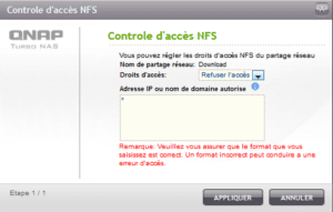 Permissions NFS