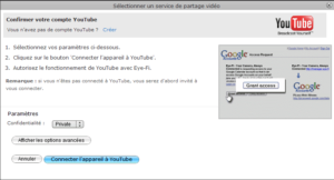 Publication des photos sur YouTube