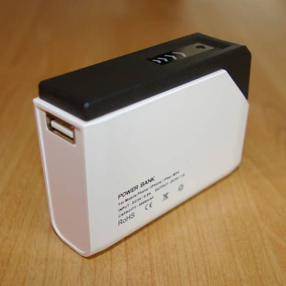 Test de la batterie externe Power Bank PBM-06-5200mAh