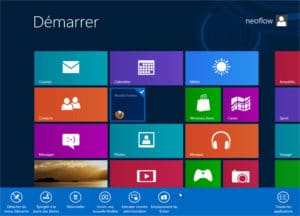 Ecran Démarrer de Windows 8