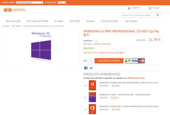 [Bon plan Sponso] Windows 10 Pro à 9,67€, Office 2016 Pro à 24,91€, ou encore Office 2019 Pro à 49.19€ !