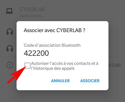 Associer un téléphone avec Windows en Bluetooth