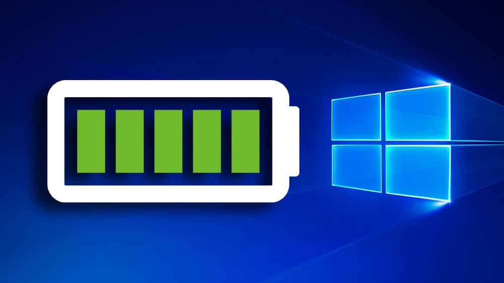 Batterie Windows 10