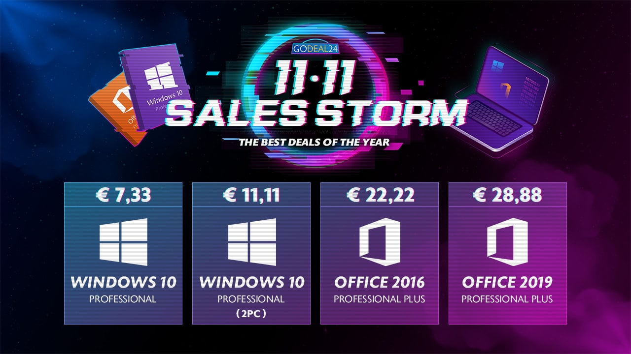Windows 10 chez GoDeal24