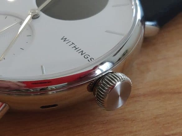 Bouton couronne ScanWatch