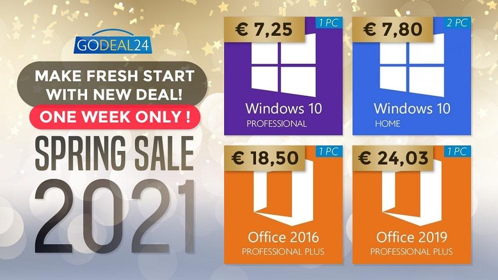 Windows 10 : soldes de printemps
